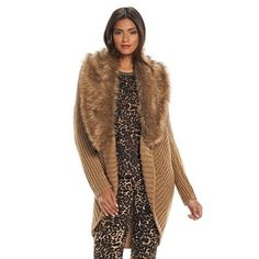 15125e9f8e1 Jennifer Lopez Faux-Fur Cocoon Cardigan - Women s Cocoon Cardigan