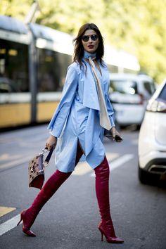 blue + burgundy
