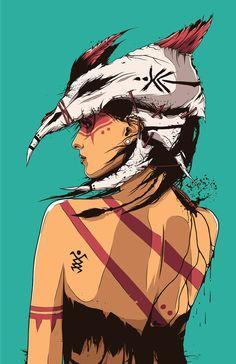Com muito talento e criatividade o ilustrador baseado em Los Angeles Conrado Salinas, nos presenteia com a sua arte.