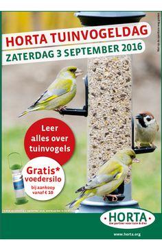 #hortadendauw: Kom op #zaterdag 3 september 2016 naar de #HortaTuinvogeldag en leer er alles over #tuinvogels. Bovendien kan je die dag in je #Horta #winkel ook zelf #vogelcupcakes maken.