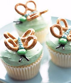 Earthday Butterfly Cupcakes