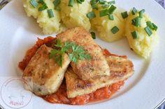 Na obiad pyszna rybka Tasty Dishes, Cauliflower, Fish, Chicken, Meat, Vegetables, Blog, Essen, Cauliflowers