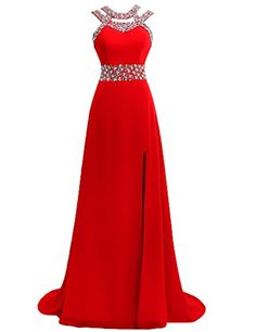JAEDEN Women's Perfect Beaded Chiffon Bridesmaid Prom Dress Formal Evening Dress Red US2 JAEDEN http://www.amazon.com/dp/B00UCU6HC8/ref=cm_sw_r_pi_dp_NUKivb1D0D2YK
