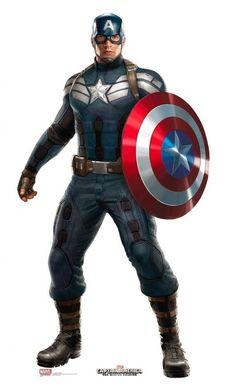 Divulgado a Arte conceitual do novo uniforme do Capitão América  a ser utilizada em GUERRA CIVIL