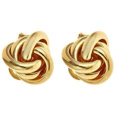 """An essential stud for every day, these metal knot studs are the perfect pair to wear alone or with a statement necklace.● 3/4"""" wide● Surgical Steel ..."""
