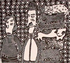The Pet Hoarder and his Wife Linocut Printmaking by StageFortPress, $110.00