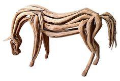 Reclaimed-Teak Horse on OneKingsLane.com