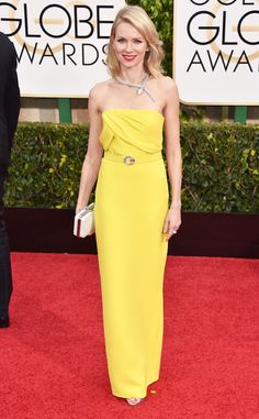 """Naomi Watts says when it came to selecting her Gucci gown for the 2015 Golden Globes there was """"only one choice"""" and we can see why!"""