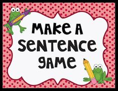 Students cut out the words and make as many sentences as they can. Then, they write them on the recording sheet. There are two versions. Grammar Activities, Writing Activities, Writing Ideas, Classroom Activities, Classroom Ideas, Teaching Writing, Student Teaching, Teaching Ideas, Teaching Resources