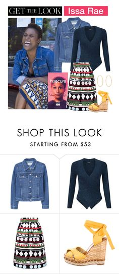 """""""Get the Look: Issa Rae in Insecure"""" by polyvore-editorial ❤ liked on Polyvore featuring Issa, MANGO, Miss Selfridge, Edit, Dolce&Gabbana, Loren Stewart, modern, InsecureHBO and IssaRae"""