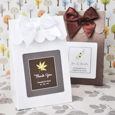 Personalized Fall Wedding Candy Bags