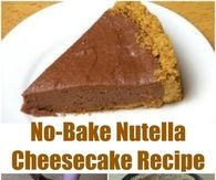 No Bake Nutella Cheesecake Recipe No Bake Nutella Cheesecake, Strawberry Cheesecake, Chocolate Cheesecake, Strawberry Recipes, One Pot Chef, Sweet Cookies, Eat Dessert First, No Bake Desserts, Sweet Tooth
