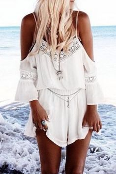 hot-lace-paneled-off-shoulder-v-neck-romper