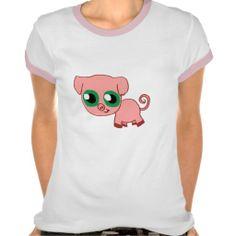 Chibi Pig Ladies Shirt