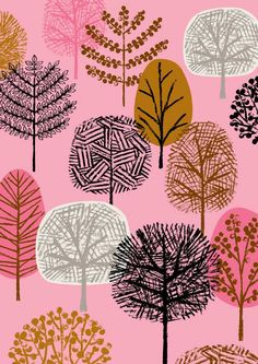 New Forest Pink limited edition giclee print by EloiseRenouf