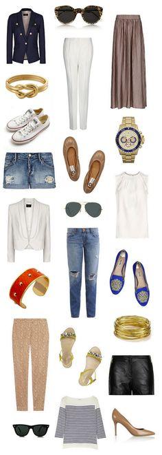 SUMMER ESSENTIALS Maxi skirt and shorts