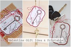 Mommy by day Crafter by night: {You Hold the Key to my Heart} Valentine Gift Idea + Printable