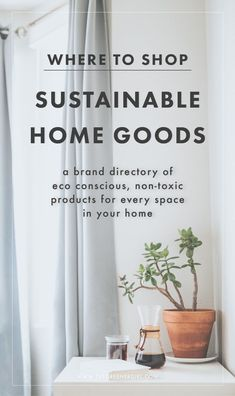 Sustainable & Healthy home goods for every space in your home. #ecofriendly #nontoxic #homegoods #sustainable