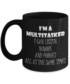 Unique Coffee Mugs for Women Gifts Funny Mugs with Sayings Multitasker Mug for Mom Gifts for Women Ignore and Forget Sarcastic Mugs Gag Gift - funny memes Funny Cups, Funny Coffee Cups, Unique Coffee Mugs, Coffee Gifts, Gifts In A Mug, Mom Gifts, Coffee Mug Quotes, Coffee Humor, Coffee Art
