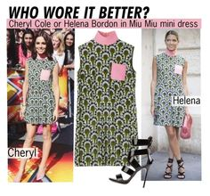 """""""Who Wore It Better Cheryl Cole Or Helena Bordon"""" by voguefashion101 ❤ liked on Polyvore featuring Giuseppe Zanotti"""