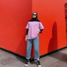 Modest Fashion Hijab, Street Hijab Fashion, Casual Hijab Outfit, Ootd Hijab, Teen Fashion Outfits, Indie Fashion, Muslim Fashion, Casual Outfits, Fasion
