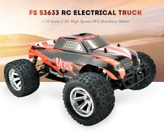 FS 53633 1:10 Scale RC Electrical Truck 2.4G High Speed 4WD Brushless Motor Gift