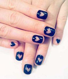Little hearts nail art Nail Art Designs For Short Nails