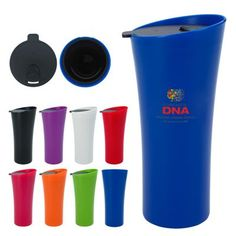 Stylize your morning commute with the 18 oz. chic tumbler! Made with a double wall construction for insulation of hot or cold liquids, this mug features a spill resistant thumb-slide lid. Its sleek design fits most automotive drink holders and is not only BPA free but meets FDA requirements. Make this tumbler unique to your brand with an imprint of your logo or company name front and center, making it a staple at your next tradeshow or convention!