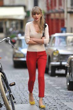 A sacar los pantalones rojos para la primavera!!