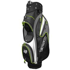 """T:750 Trolley Bag in Black, White and Green - Includes storage pockets, cool pocket, 7.5"""" divider top and accessory clip"""