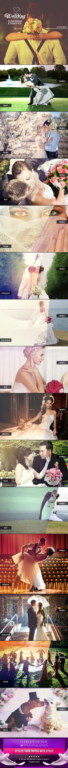 Wedding - Photoshop Actions #photoeffects #design Download: http://graphicriver.net/item/wedding-photoshop-actions/9212060?ref=ksioks