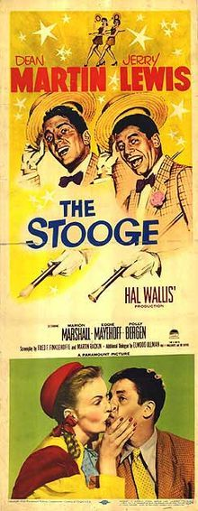 The Stooge    Directed by	Norman Taurog  Produced by	Hal B. Wallis  Written by	Fred Finklehoffe  Martin Rackin  Starring	Dean Martin,  Jerry Lewis,  Polly Bergen, Frances Bavier,  Marion Marshall,  Eddie Mayehoff.  Distributed by	Paramount Pictures  Release date(s)	December 31, 1952