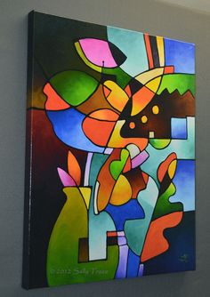 Abstract Art Cubist Art Giclee on Canvas from my Original