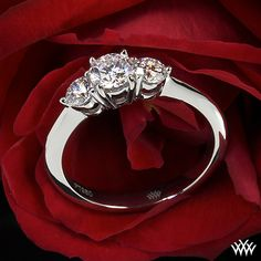 Trios Brillant 3 Stone Engagement Ring with 0.542ct A CUT ABOVE