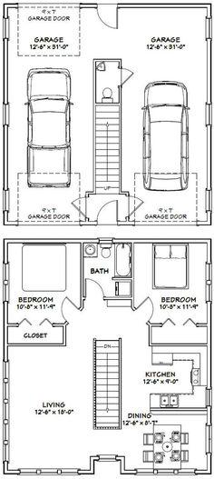 30x32 House -- #30X32H2C -- 1,014 sq ft - Excellent Floor Plans