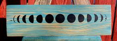 Moon Phases Pallet Wood Art.  Upcycled Art by CryptobioticDesigns