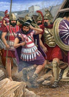 King Philip II of Macedon gets injured and loses his right eye at the siege of Methone. Artwork by Sean O'Brien. Greek History, Ancient History, Ancient Rome, Ancient Greece, Greece Mythology, Greek Warrior, Alexander The Great, Military History, Illustrations