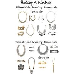 Building A Wardrobe: Jewelry by ginny-mossman, via Polyvore