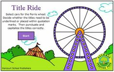 Title Ride - work on title using this fun game from Harcourt.