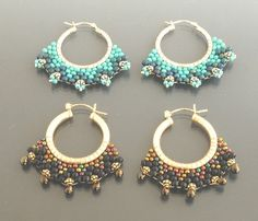 Instructions Of Bead Weave Earrings   ChineseFashion