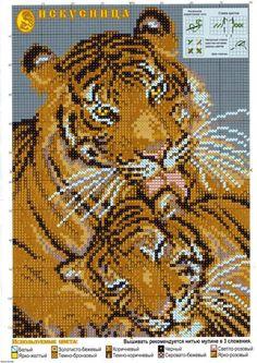 dva tygři Cross Stitch Needles, Cross Stitch Art, Cross Stitch Alphabet, Simple Cross Stitch, Cross Stitch Animals, Cross Stitching, Cross Stitch Embroidery, Cross Stitch Beginner, Easy Cross Stitch Patterns
