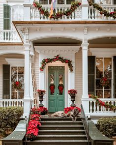 It's important to take lots of breaks when holiday decorating! Zoom in on those two cuties on the porch! December Holidays, All Holidays, Cosy Christmas, Christmas Time, Victoria Magazine, Image Fun, New Year Wishes, Crescent City, Winter Photos