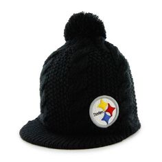 d535a1982233c Pittsburgh Steelers  47 Brand Women s Mount Snow Knit Hat Pittsburgh  Steelers Merchandise