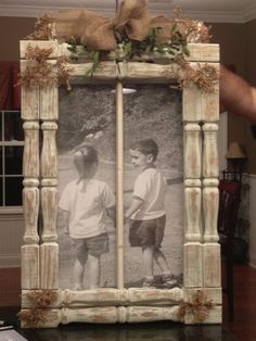 repurpose stair spindles | rustic 2 pane window upcycled deck spindles and engineered print More