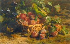 Came from an artistic family, the still life Dutch painter Gerardina Jacoba Van de Sande Bakhuyzen [1826-1895], was a 19th-century painter from the Northern Netherlands. Her father was the painter Hendrik Van de Sande Bakhuyzen, and her brother was the painter Julius Jacobus Van de Sande Bakhuyzen.