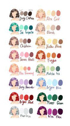 Coloration des cheveux, dessin.