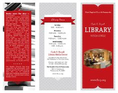 Brochure Layout Library Design Ideas Pinterest Brochure - Library brochure templates