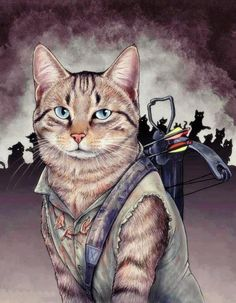 The Meowing Dead - Daryl Dixon, if Daryl Dixon was a kitty cat.