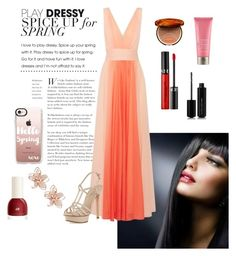 """""""Dress Up Spring"""" by summer1967 on Polyvore featuring Halston Heritage, Clarins, Moroccanoil, Sephora Collection, Pelle Moda, Casetify, NAKAMOL and Marc Jacobs"""