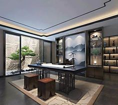 Study + tea room, is the best combination of new Chinese design! / 书房+茶室,才是新中式设计的最佳组合!